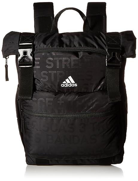 349aa50d9f0 Amazon.com: adidas Yola Backpack, Black Emboss/Black/White, One Size ...
