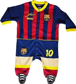 Pijama para bebé, colección oficial del FC Barcelona, diseño con firma de Lionel Messi