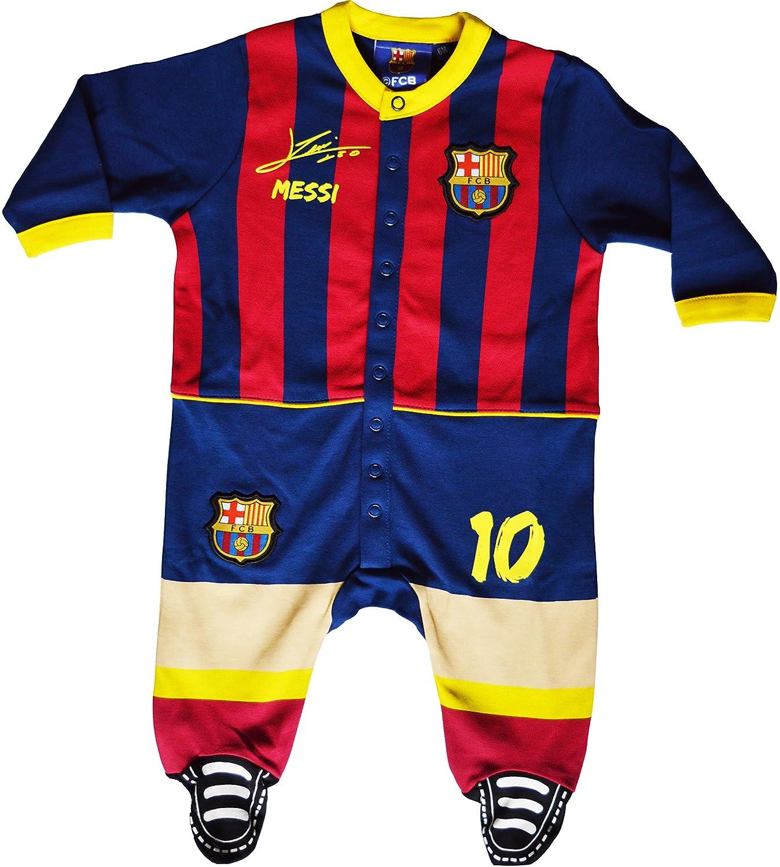 offizielle FC-Barcelona-Kollektion Strampelanzug f/ür Babys mit Motto Lionel Messi