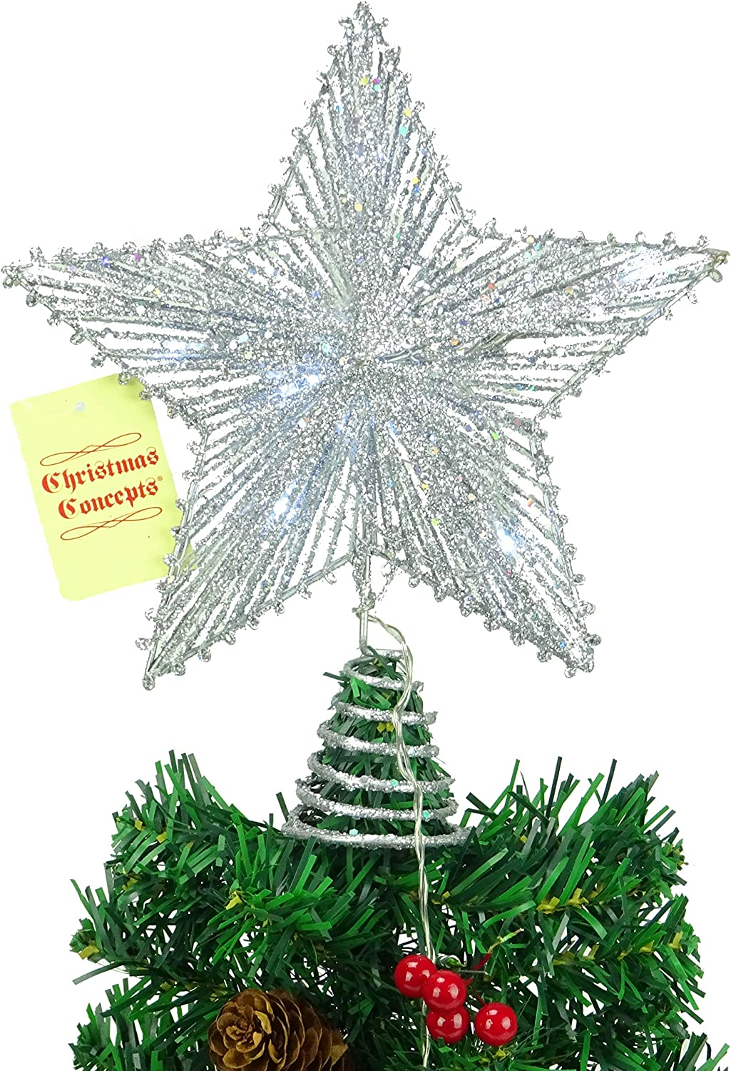 Christmas Tree Top Topper 30 LED Light Up Star Xmas Home Party Decoration Lights