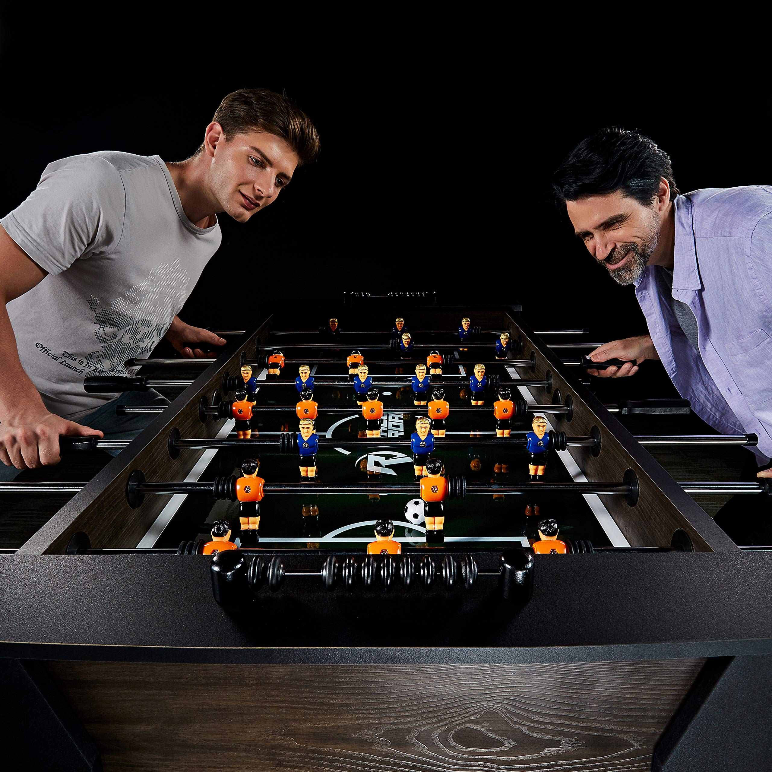 """Rally and Roar Foosball Table Game – 56"""" Standard Size Fun, Multi Person Table Soccer Adults, Kids - Recreational Foosball Games Game Rooms, Arcades, Bars, Parties, Family Night by Rally and Roar (Image #12)"""