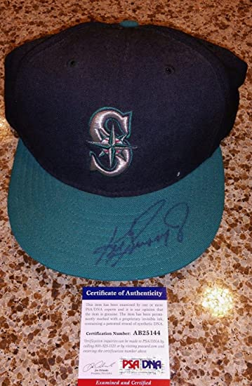 ken signed auto mariners baseball cap autographed new certified womens