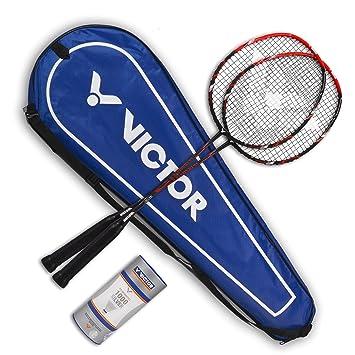 Bälle VICTOR 6 Stück Badmintonball Federball Nylonshuttle 1000 medium blau