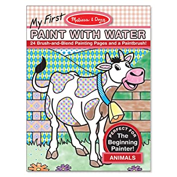 Amazon.com: Melissa & Doug My First Paint With Water Coloring Book ...