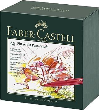 Faber Castell Pitt Artist Pen Gift Box Of 48 Colours