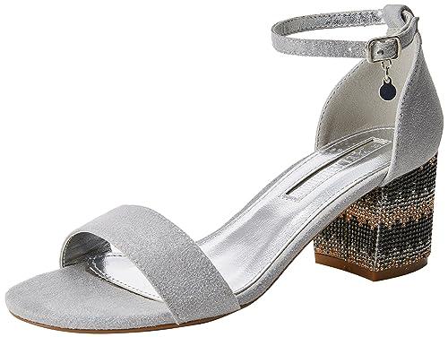 XTI 30702 Scarpe con Cinturino alla Caviglia Donna Argento Platinium