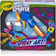Crayola Washable Sidewalk Paint Sprayer Kit Outdoor Art Gift for Kids 6 & Up, Includes Paint Sprayer, Neon Paint Bottles & Stencils for Creating Vivid Outdoor Art, Washes Away Easily