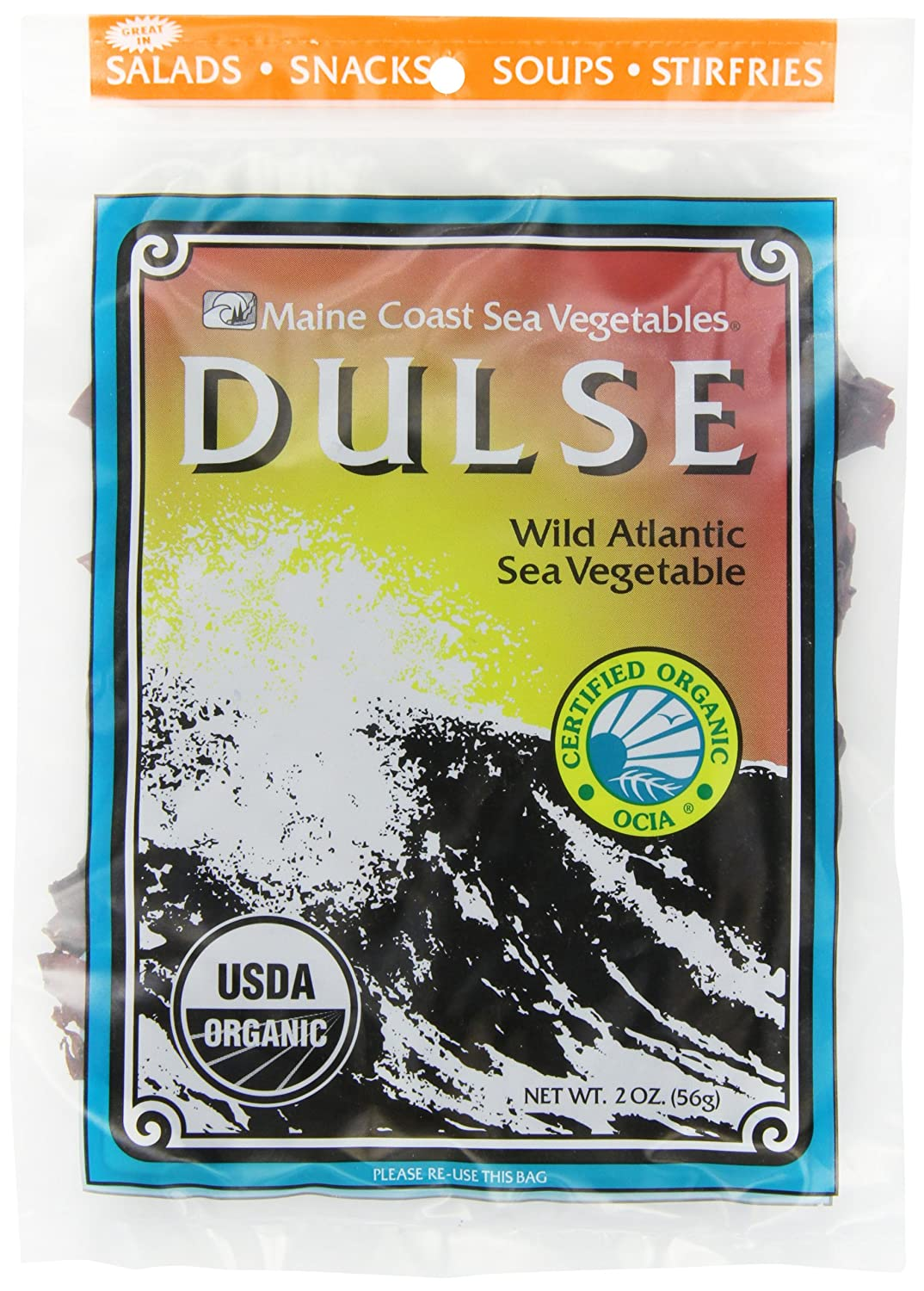B001IZIBIY Maine Coast Sea Vegetables Dulse, Wild Atlantic Sea Vegetable, 2-Ounce Package (Pack of 6) 910gOzo2BdQL._SL1500_