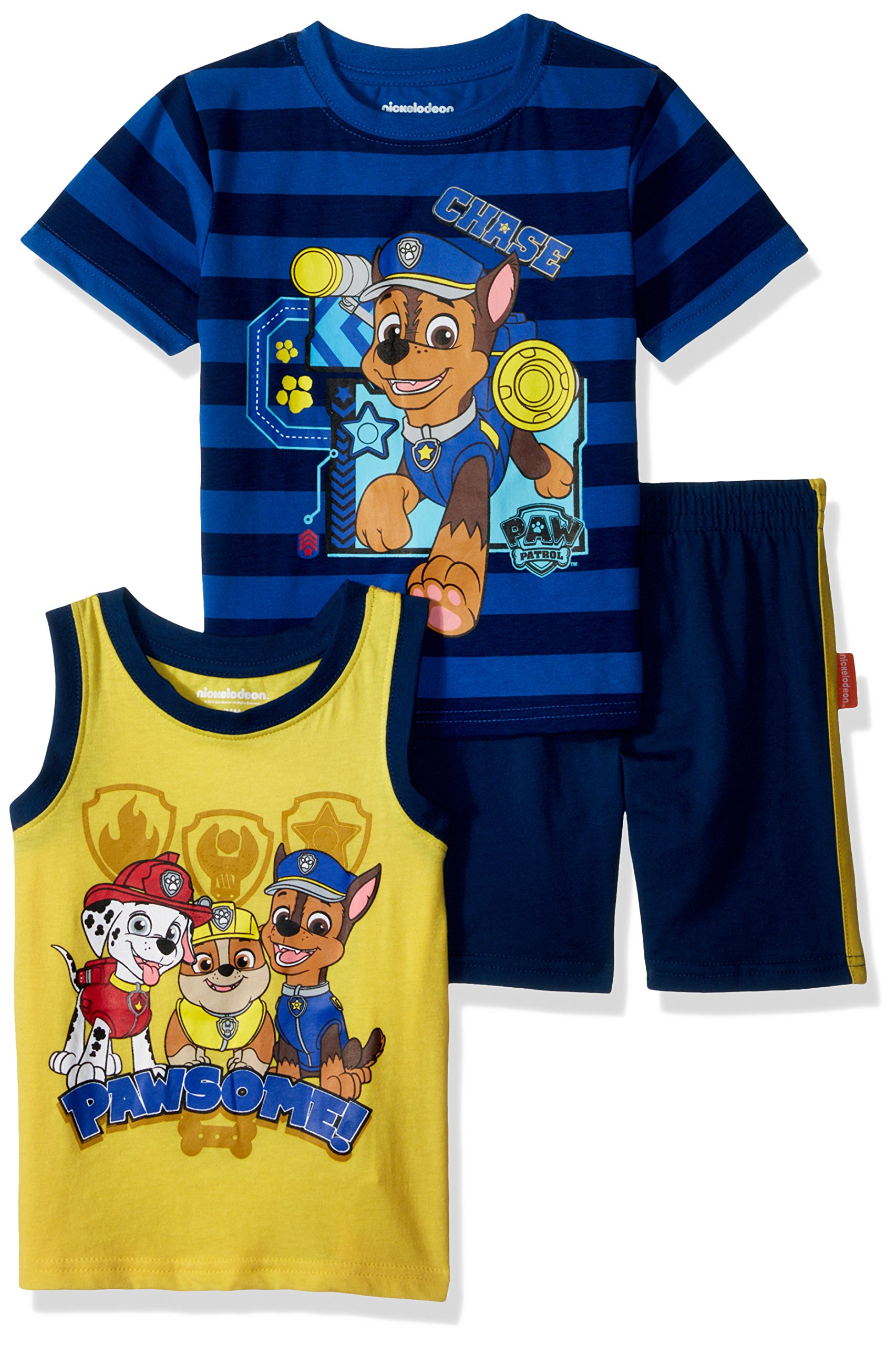 Nickelodeon Toddler Boys' Paw Patrol 3 Piece Short Set, Blue, 2T