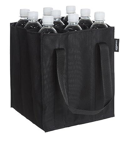 AmazonBasics - Flaschentasche, 9 Fächer, 0,75 l Flaschen, Schwarz