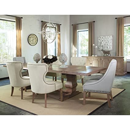 Beau A Line Furniture Vintage 18th Century French Neoclassic Design Dining Set  Beige 1 Table, 6