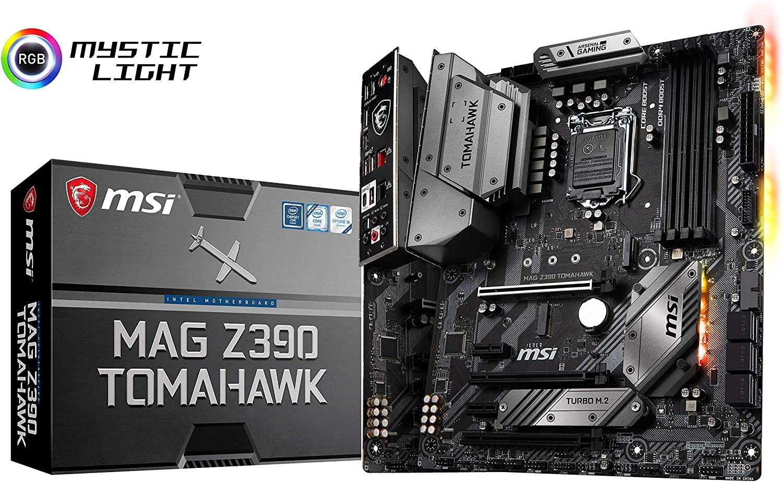 MSI MAG Z390 Tomahawk LGA1151 (Intel 8th and 9th Gen) M.2 USB 3.1 Gen 2 DDR4 HDMI DP CFX Dual Gigabit LAN ATX Z390 Gaming Motherboard (Renewed)