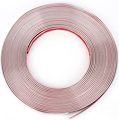 Autohobby 7mm x 5meter Zierleiste Chromleiste Universal Flexibel Selbstklebend Tuning Styling Chrom
