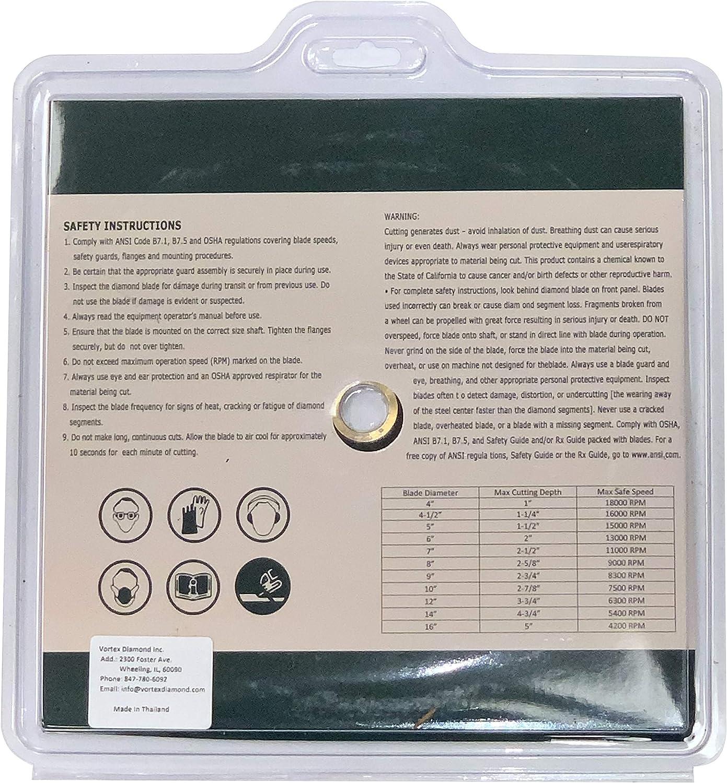 14 VORTICE WTRC Heavy-Duty 14 inch Supreme Quality Dry//Wet Cutting Diamond Blades for Concrete Asphalt Masonry Stone