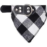 Collar de bandana lavable para perro, pañuelo cuadrado de búfalo a cuadros, pañuelo para perro, accesorios para perros…