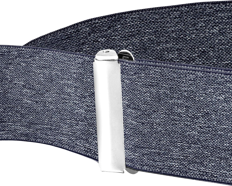 Ganci Metallici larghe 5 cm Buyless Fashion Bretelle a X Posteriore da Uomo Regolabili ed Elastiche 1,2 metri