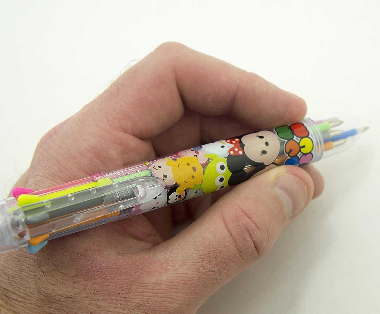 pennino 0.5 mm Confezione da 2 HAND E-8088 congelati febbre 8 colori retrattile penna a Biro con Easy Grip