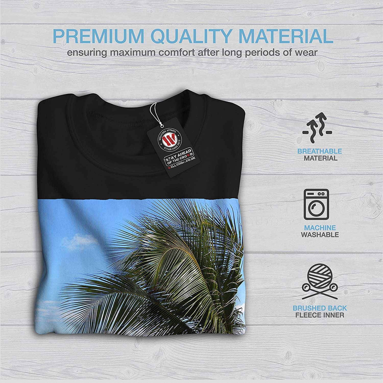 wellcoda Blue Sea Tropic Nature Mens Sweatshirt Sunny Casual Jumper