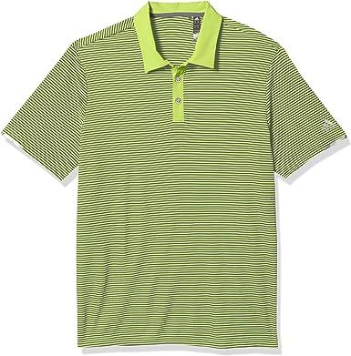 adidas Mens Heat.rdy Striped Polo Shirt