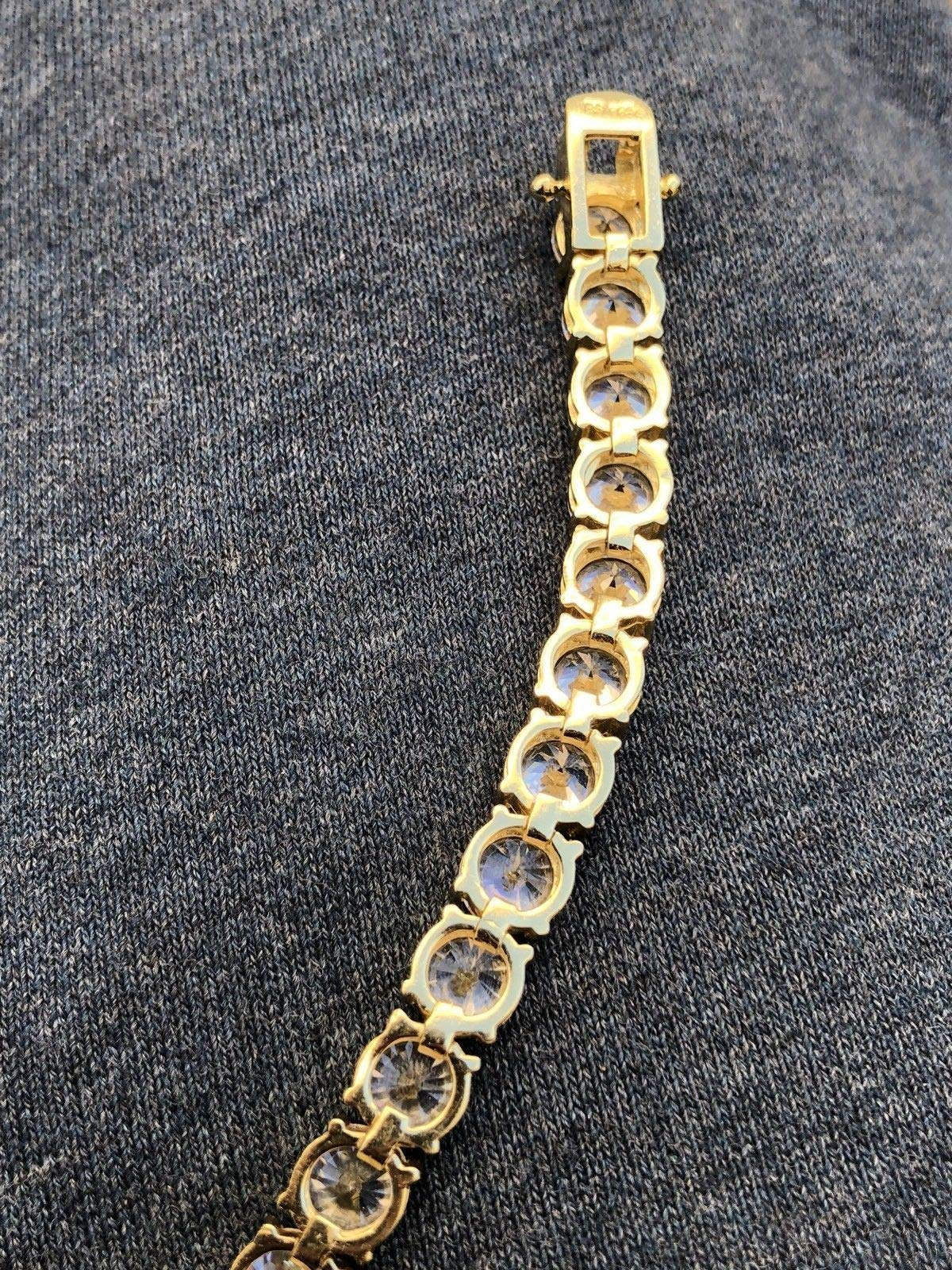 Harlembling Real Solid 925 Silver Men's Tennis Chain - 14k Gold Plated Or Natural Silver - 16-30'' - 3mm 4mm 5mm 6mm - Iced Out Hip Hop CZ Men's One Row Chain (18, 5mm Natural Silver) by Harlembling (Image #5)