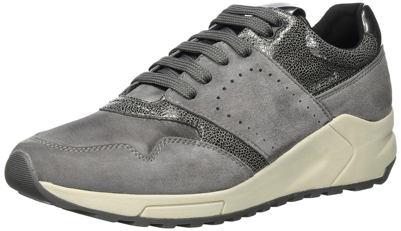 Geox D724DA02112, Zapatillas Mujer 35 EU|Gris (Dk Grey)