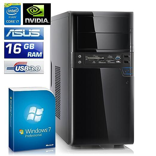 CSL Speed 4764pro Incluye Windows 7 Pro - Intel Core i7 - 4790 K 4 x 4000 MHz, 16 GB de RAM, 1000 GB HDD, GeForce GT730, DVD, USB 3.1: Amazon.es: ...