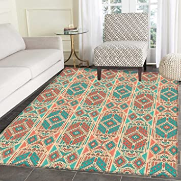 Amazon.com: Mexican Rugs for Bedroom Vintage Pastel Toned ...