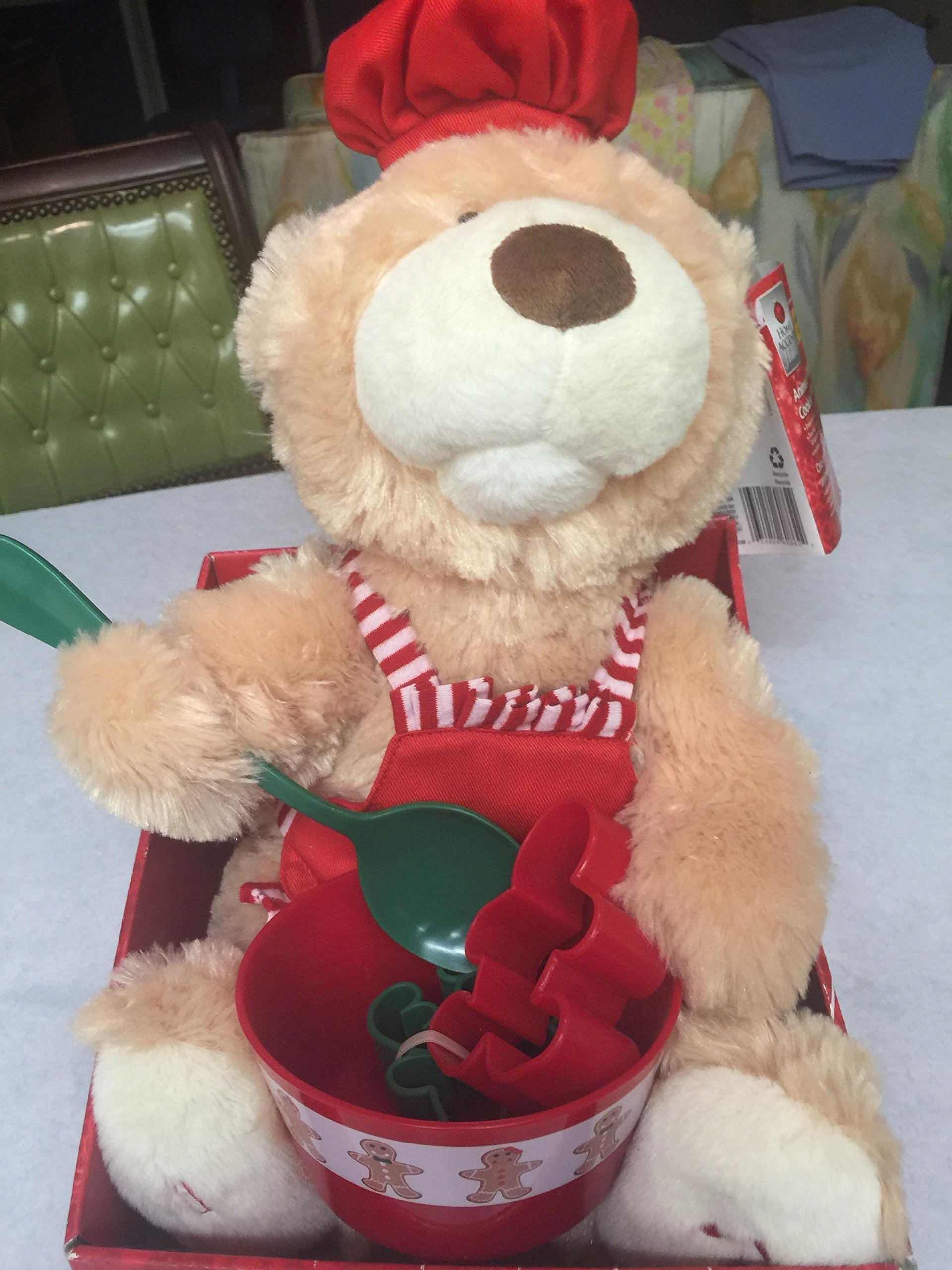 10 in. H Animated Cookie Cooking Bear