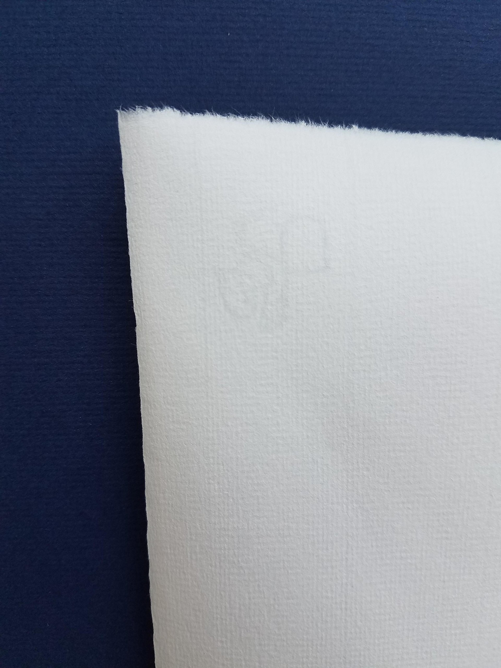 Hahnemuhle Ingres Paper, Bright White 130, 19'' X 25'', 100 gsm (25 Sheet Package) by Hahnemuhle Ingres Antique