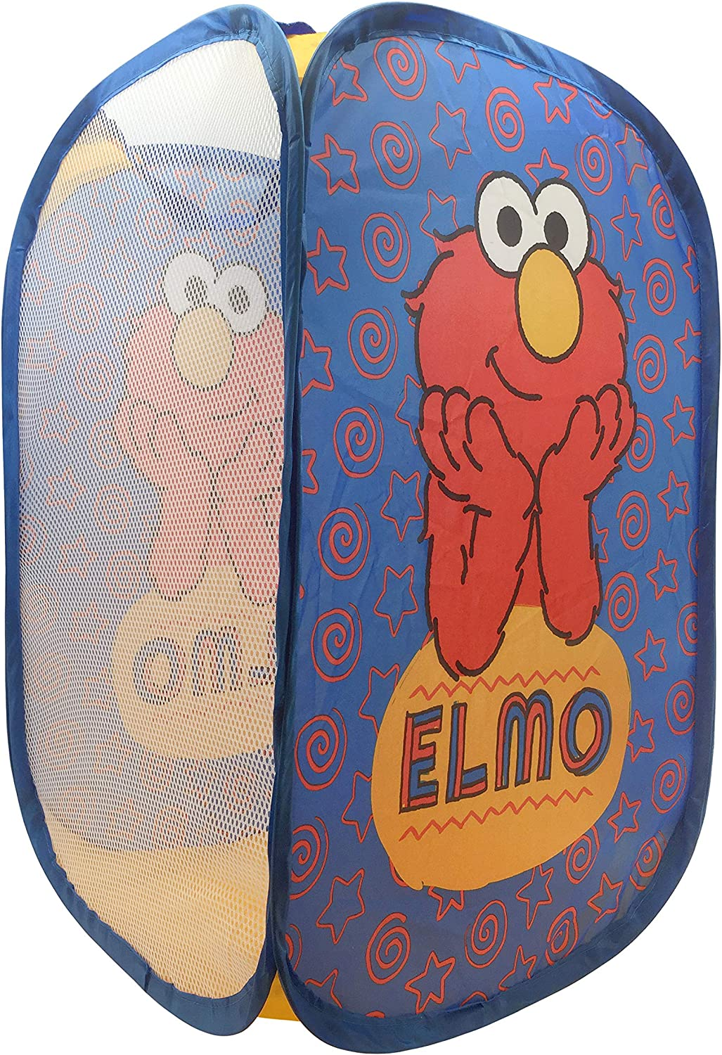 "Jay Franco Sesame Street Elmo Pop Up Hamper - Mesh Laundry Basket/Bag with Durable Handles, 22"" x 14"" (Official Sesame Street Product)"