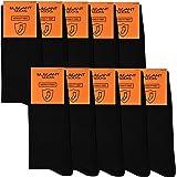 Elegant Socks Schwarze Socken für Herren | 10 Paar Baumwolle Premium Qualität Business Herren Socken Nur Der Herren Arbeitssocken