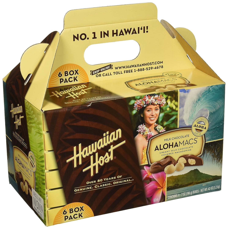 Hawaiian Host Alohamacs Milk Chocolate The Original Chocolate Covered Macadamia Nut, 42 Ounce