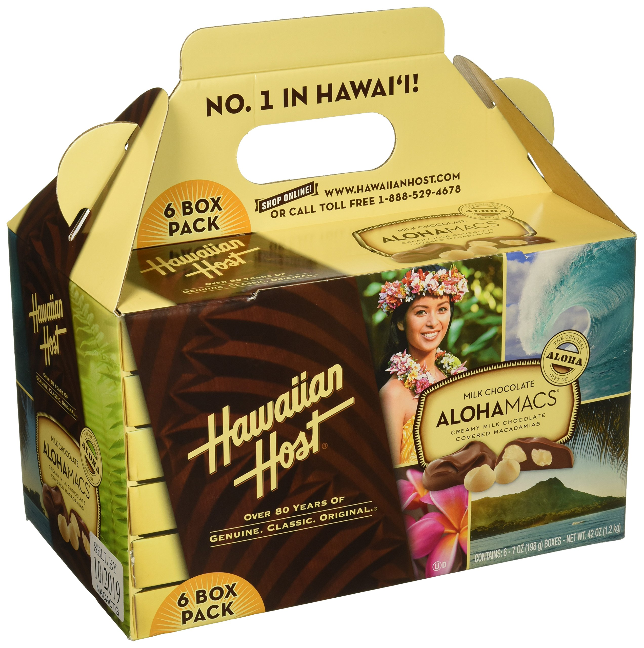 Hawaiian Host Alohamacs Milk Chocolate The Original Chocolate Covered Macadamia Nut, 42 Ounce by Hawaiian Host (Image #1)