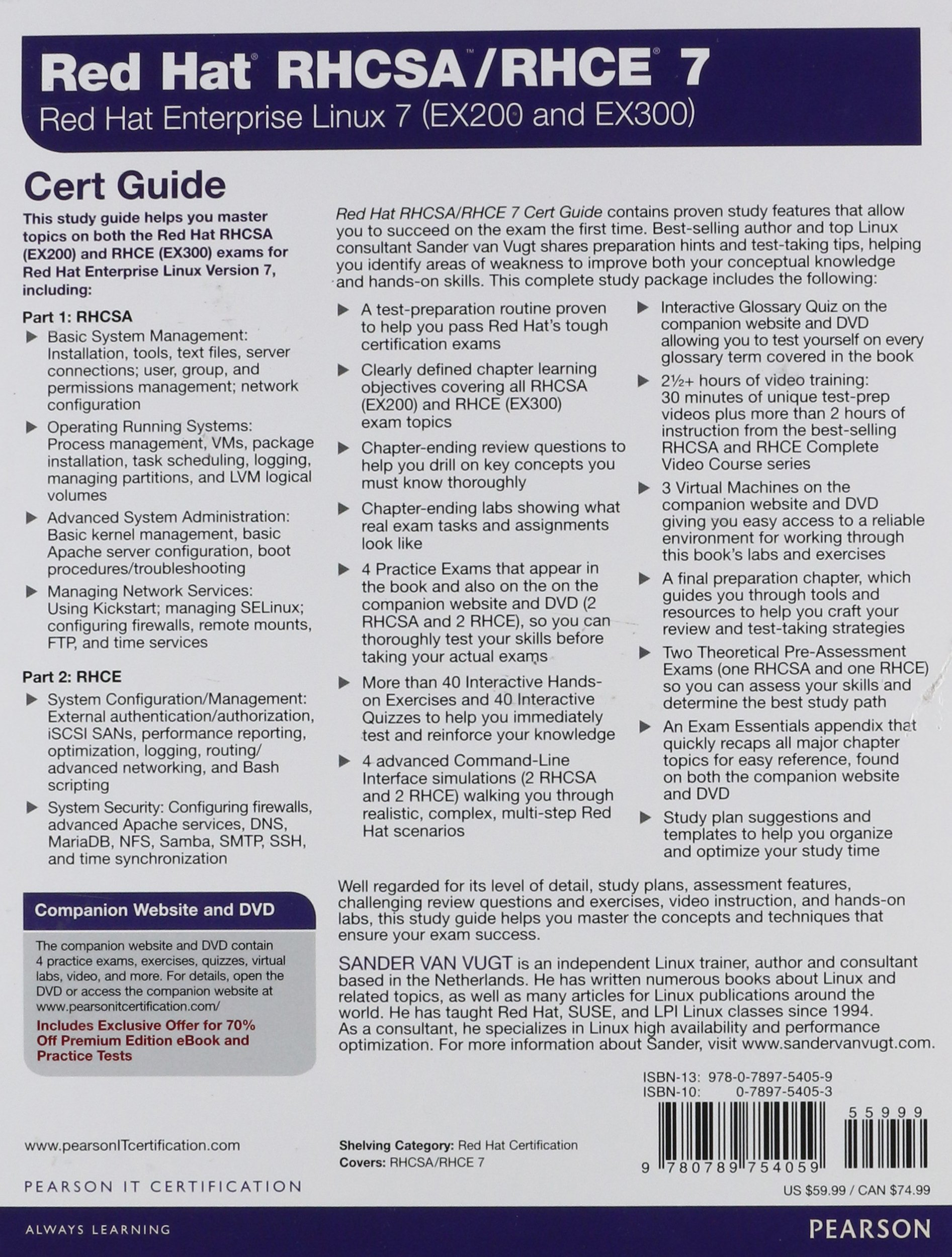 Red hat rhcsa rhce 7 cert guide red hat enterprise linux 7 ex200 and ex300 certification guide amazon de sander van vugt fremdsprachige b cher