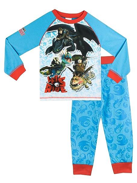 9adaa1dbb91 Dragons - Pijama para Niños - Cómo entrenar a tu dragón - 10 a 11 Años   Amazon.es  Ropa y accesorios