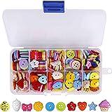 Botones Costura de Colores Mezclados Botones de Resina con Caja de Plástico para manualidades de DIY Coser Artesanía 235…