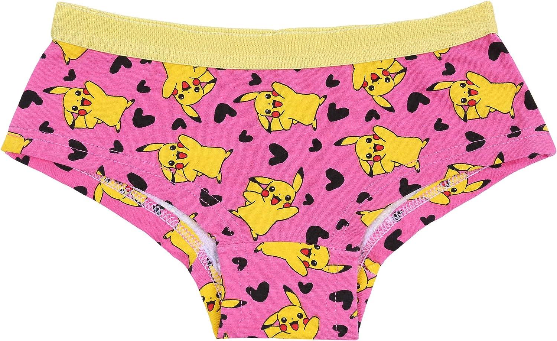 2 x Pink//Yellow Shorts Underwear for Girls Pokemon Pikachu