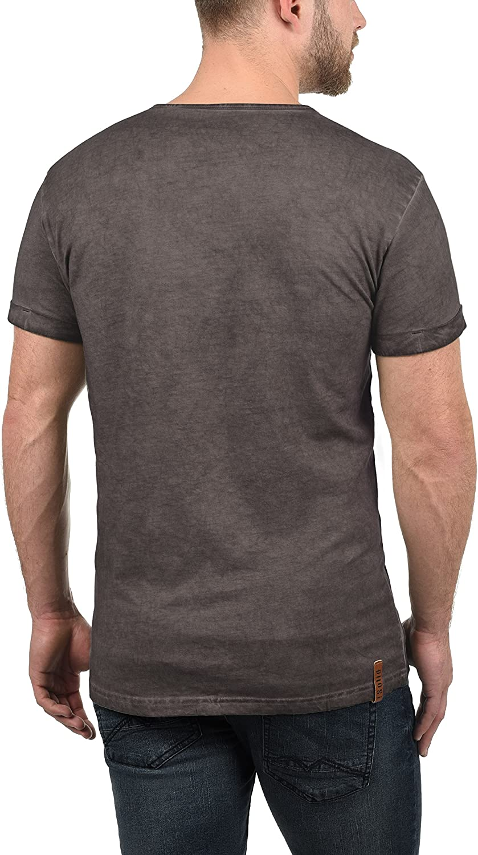 !Solid Tihn Camiseta B/ásica De Manga Corta T-Shirt para Hombre con Cuello Grandad De 100/% algod/ón