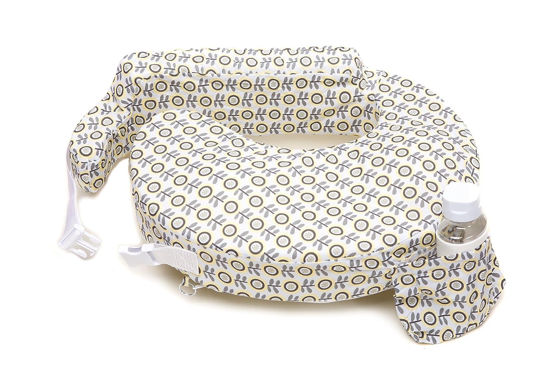 My Best Friend Nursing Pillow Slipcover, Sunshine Poppy, Grey, Yellow Zenoff Products 457