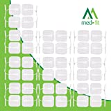 """Med-Fit ® Tens pads 40 pads 10 packs of the highest quality extra long lasting self adhesive Tens pads size 5cm x5cm 2""""x 2"""" Compatible with most TENS"""