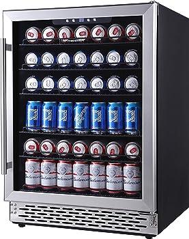 Phiestina Glass Door Under-counter Refrigerator