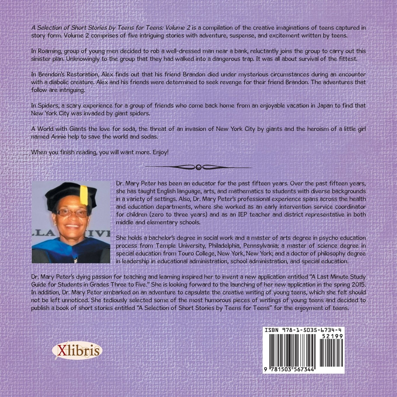Selection of Short Stories by Teens for Teens: Volume 2: Mary Peter PhD.:  9781503567344: Amazon.com: Books