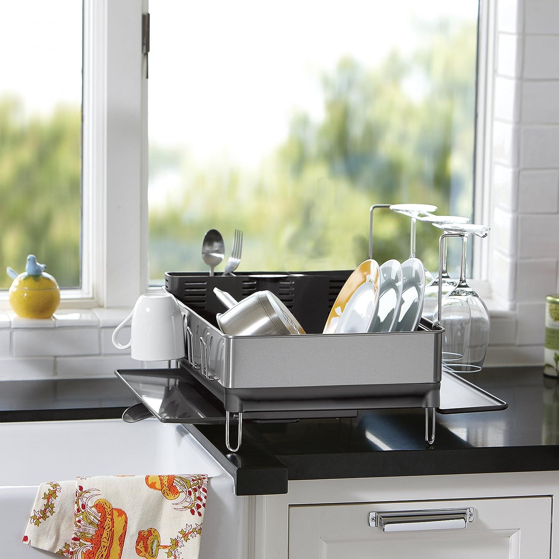 Amazon simplehuman Kitchen Steel Frame Dish Rack With Swivel