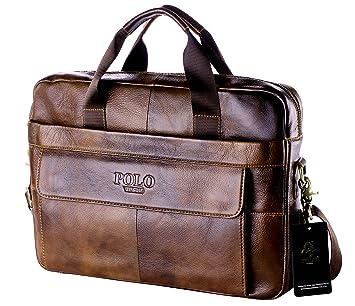 5edac086f200 POLO VIDENG M278 Men s Classic Top Cow Genuine Leather Business Handbag  Briefcase Shoulder Messenger Satchel Bag