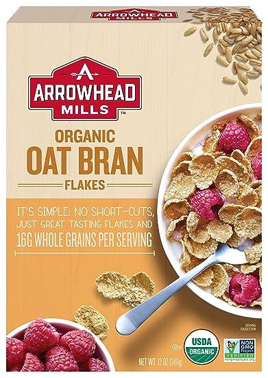 amazon com arrowhead mills organic cereal oat bran flakes 12 oz