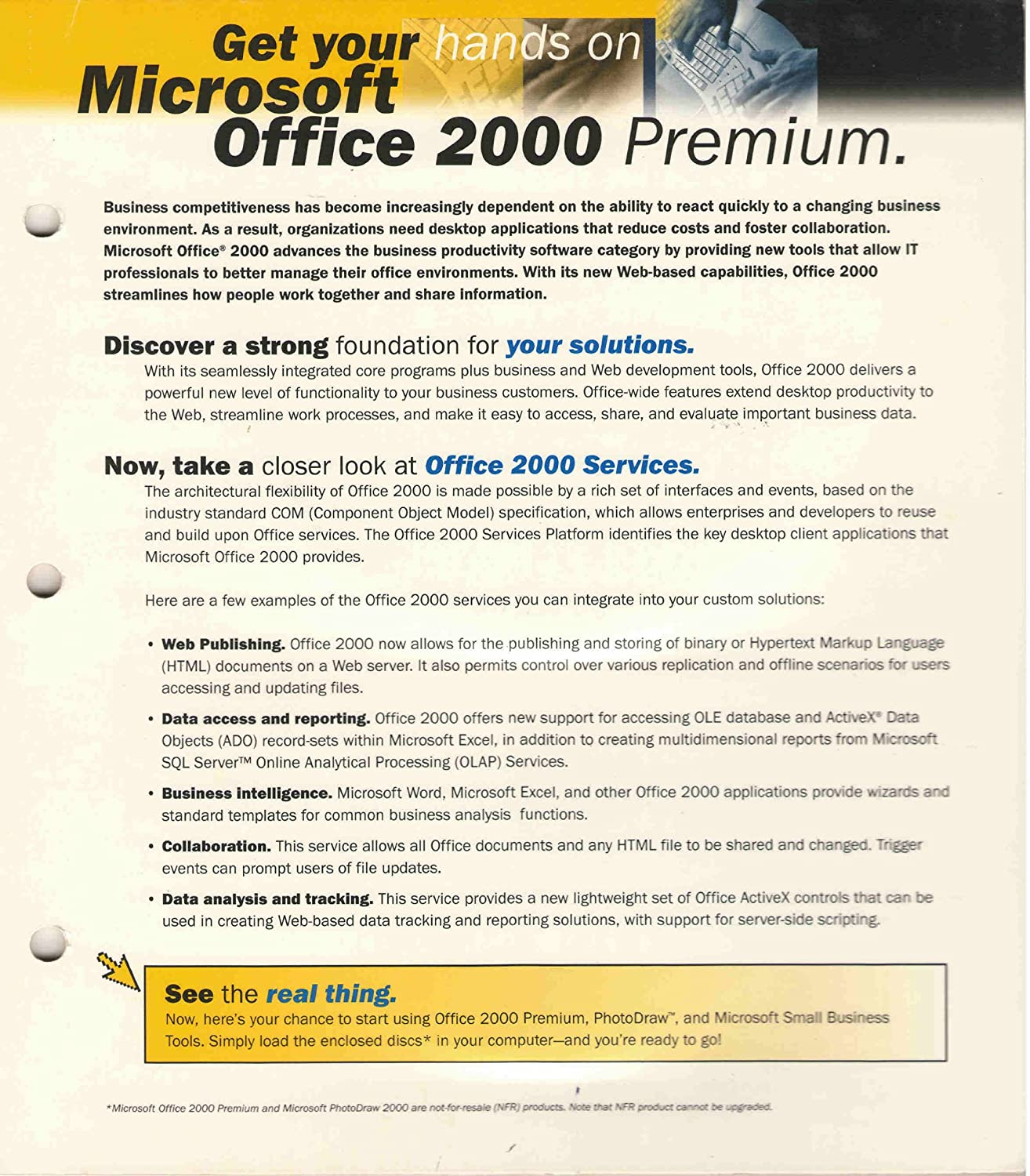 Microsoft Office 2000 Premium with Photodraw Publisher & Frontpage