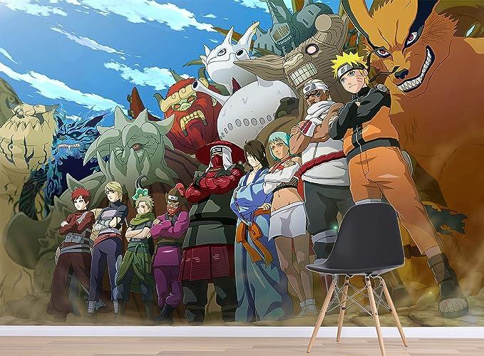 Anime Manga Anima Photo Wallpaper Woven Self-Adhesive Wall Mural Art Naruto M148