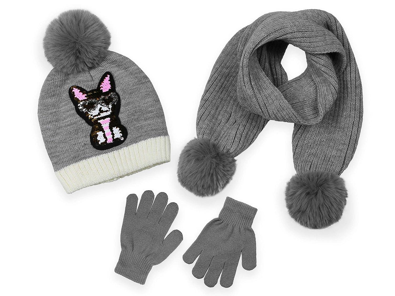 Scarf and Glove Set Minus 5/° by Polar Wear Girls Winter Beanie Hat 3 Piece Set