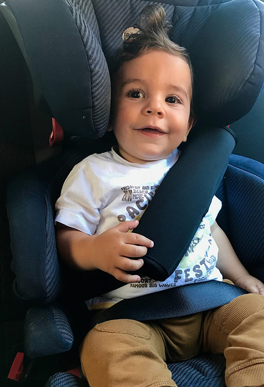 car seat seatbelt pad for children and adults shoulder cushion Car seatbelt protector safety belt shoulder pad - by Heckbo. black