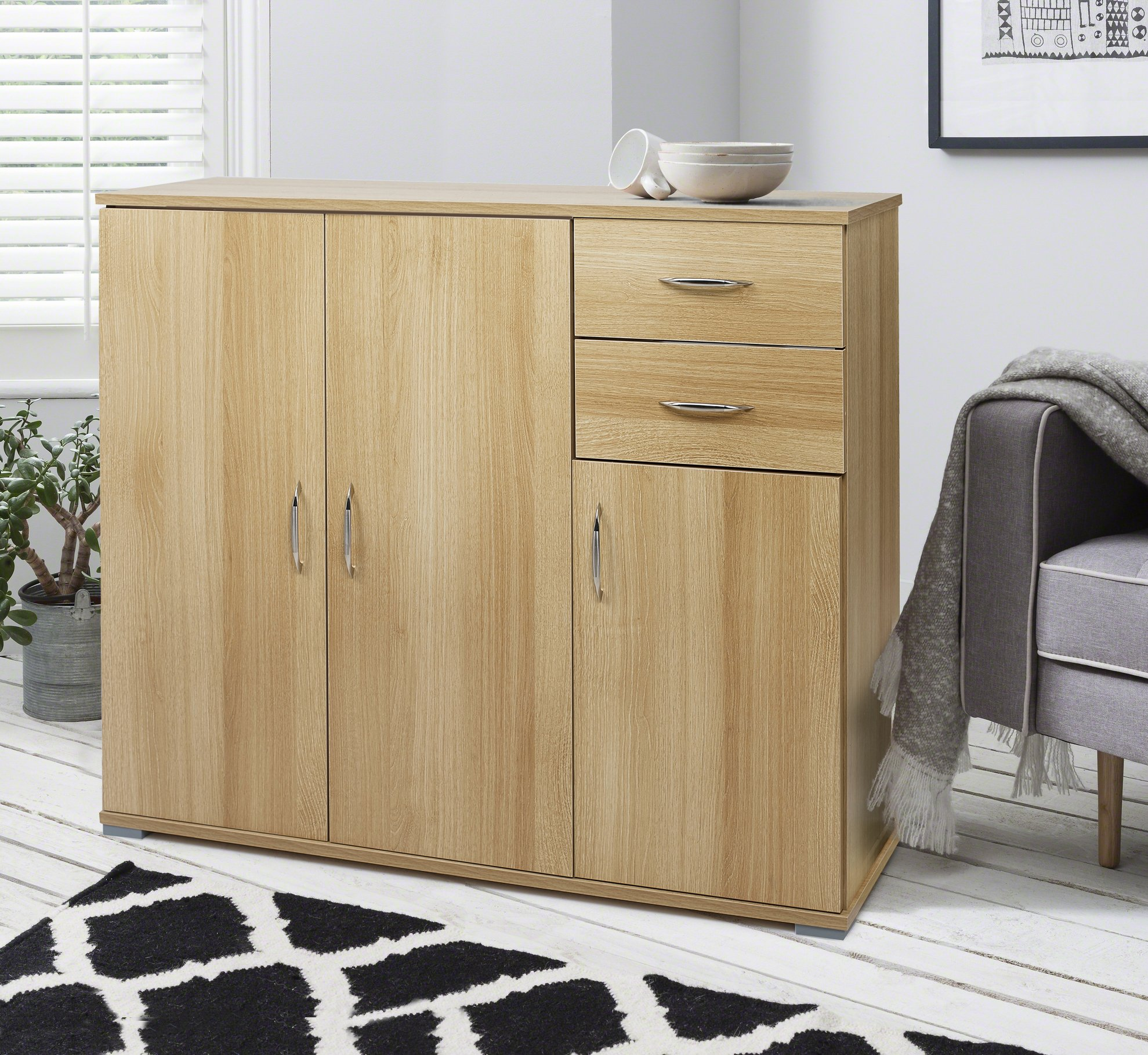 Merveilleux Laura James Sideboard U2013 Home Office Cupboard Cabinet Unit Chest U2013 With 2  Drawers And Shelf